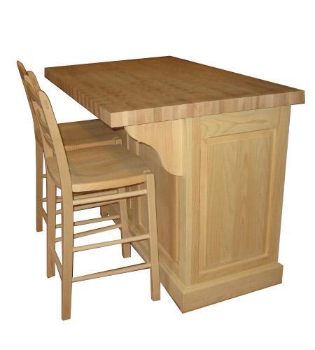Mobilier de cuisine produits de bois fabriqu s au qu bec for Ilot de cuisine antique